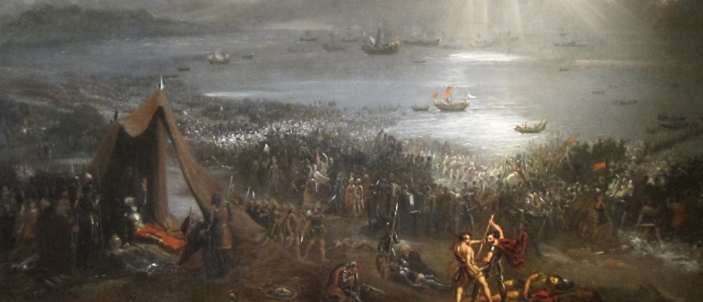 Oil painting of the Battle of Clontarf