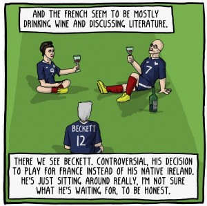 "Panel from ""World Cup Philosophy: Germany vs France"" (c) Existential Comics"