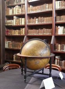 Globe and books, Russell Library  © IrishPhilosophy.com (CC)
