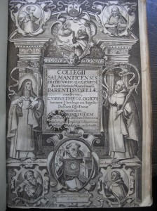 """Title page from """"Collegii Salmanticensis ... theologicus Angelici Doctoris Diui Thomae complectens"""", 1637 © Marsh's Library (CC)"""