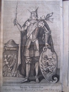 Brian Boru from Geoffrey Keating's General History of Ireland, printed in 1723.