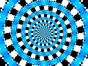Optical Illusion of circles that look like a spiral