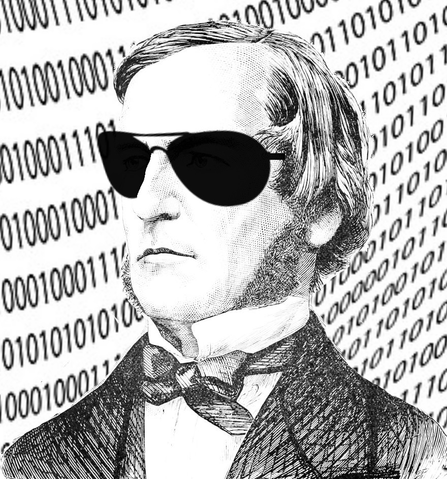 George Boole in sunglasses