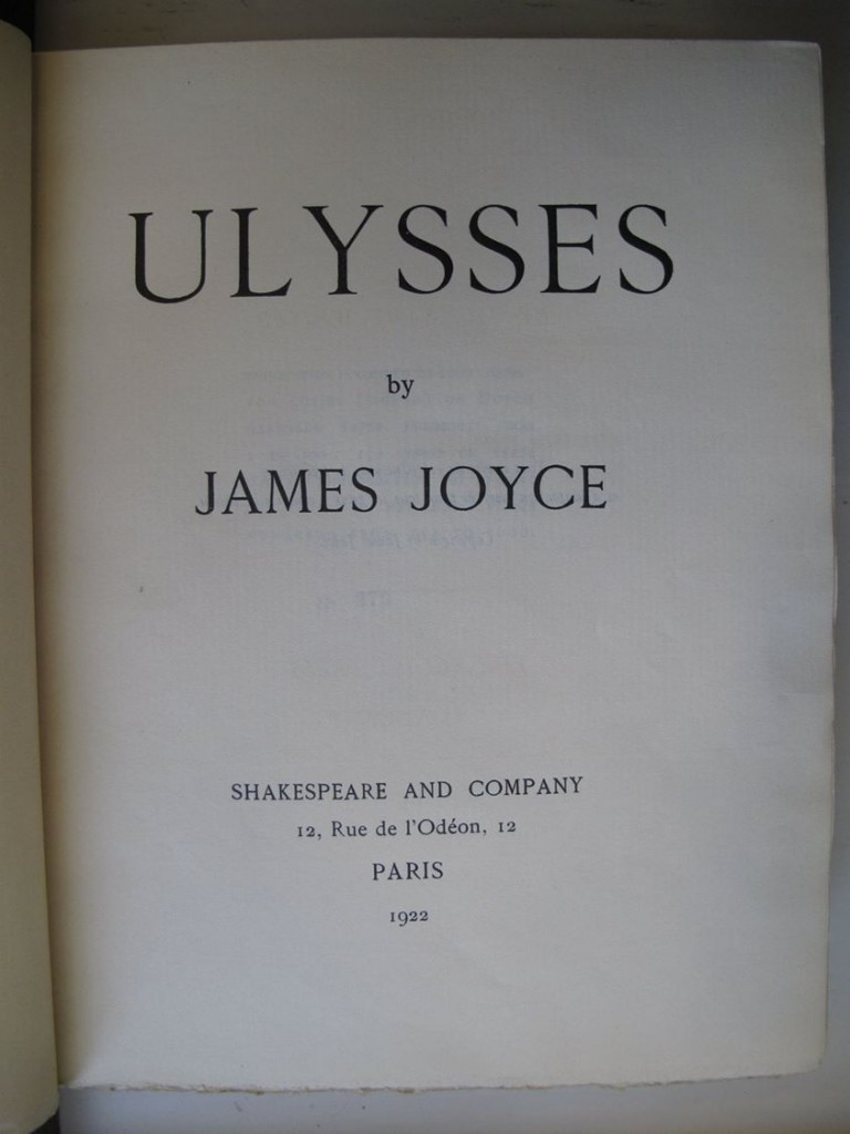 Ulysses by James Joyce, first edition,  number 273 of 1000 (c) Marsh's Library (cc)
