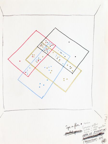 Mel Bochner, Study for Axion of Associations, 1973 (c) UCC, All Rights Reserved