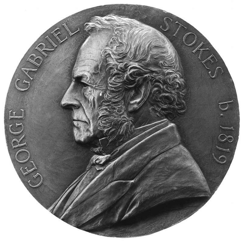 Sir George Gabriel Stokes, 1st Bt by George William De Saulles bronze medallion, 1899 NPG 2758 © National Portrait Gallery, London