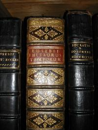 Detail of book bindings Courtesy of the Edward Worth Library