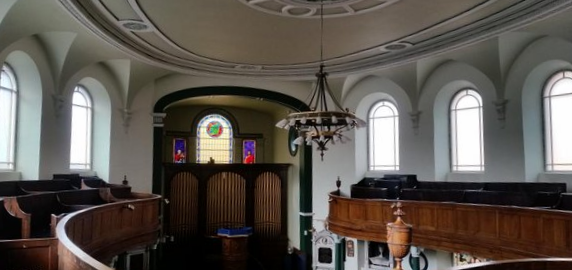 Interior of the First Presbyterian Church, Belfast.