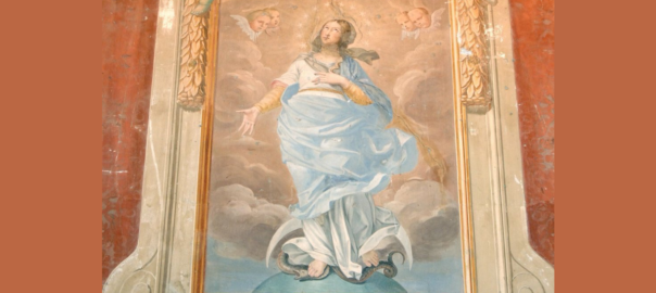 Fresco of Virgo Immaculata (Mary, the Immaculate Conception) from St. Isidore's (Irish) College Rome