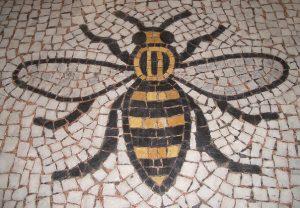 Mosaic bee.