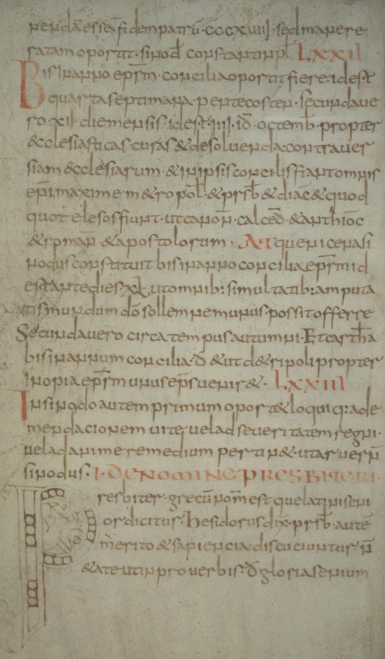 Manuscript of Collectio canonum Hibernensis